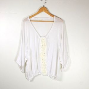Anthrpologie Tiny oversized sequin top